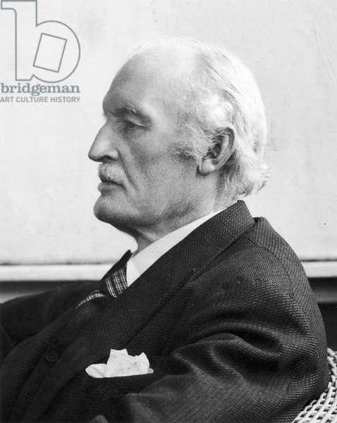 EDVARD MUNCH (1863-1944) Norwegian painter and printmaker, 1944 (b/w photo)