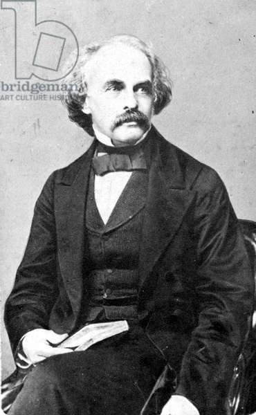 NATHANIEL HAWTHORNE (1804-1864). American writer. Photograph by Warren of Boston.