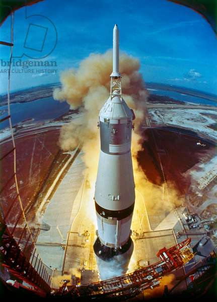 APOLLO 11: LAUNCH, 1969 Launch of the Apollo 11 from the Kennedy Space Center in Florida. Photograph, 16 July 1969.
