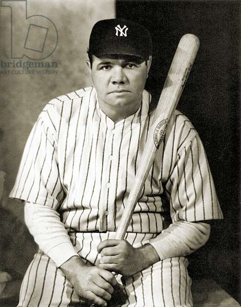 GEORGE H. RUTH (1895-1948) Known as Babe Ruth. American professional baseball player. Photographed in the 1920s by Nickolas Muray.