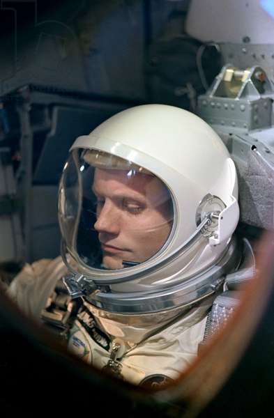 NEIL ARMSTRONG (1930-2012) American astronaut. Photographed during pre-launch activity of the Gemini 8, 16 March 1966.