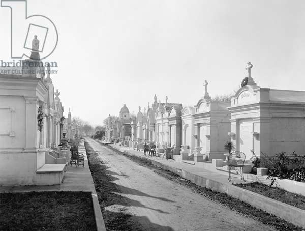 NEW ORLEANS: CEMETERY A view of Metairie Cemetery in New Orleans, Louisiana. Photographed c.1890.