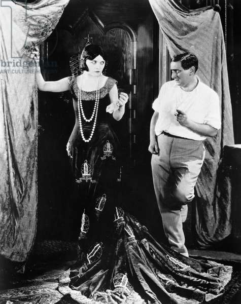 NEGRI AND LUBITSCH Actress Pola Negri (1897-1987) and director Ernst Lubitsch (1892-1947) rehearsing for a scene of the silent movie 'Forbidden Paradise,' 1924.
