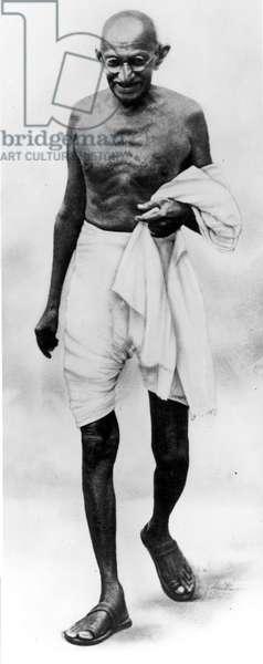 MOHANDAS GANDHI (1869-1948) Hindu nationalist and spiritual leader.