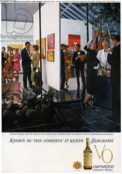 AD: SEAGRAM'S, 1961 American advertisement for Seagram's Canadian Whiskey, 1961.
