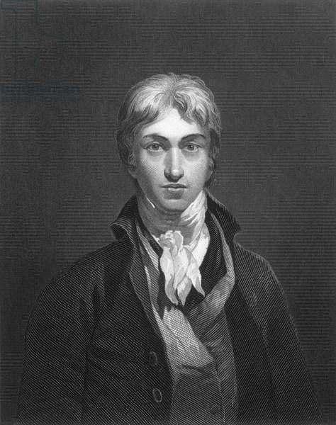 JOSEPH TURNER (1775-1851) Joseph Mallord William Turner. English painter. Stipple engraving, 19th century, after a self-portrait, c.1799.