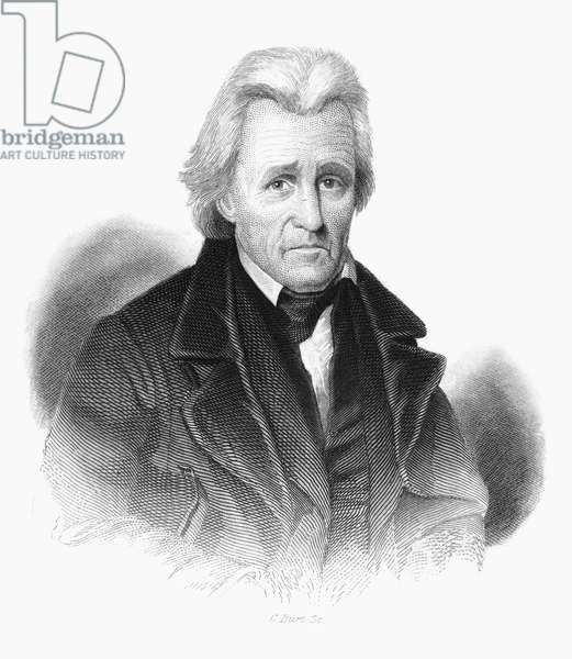 ANDREW JACKSON (1767-1845) Seventh President of the United States. Steel engraving, 19th century.