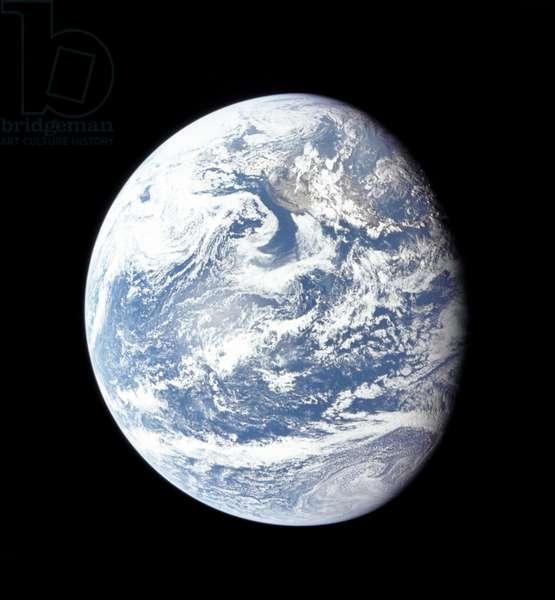 APOLLO 11: EARTH, 1969 A view of planet Earth from Apollo 11. Photograph, 1969.