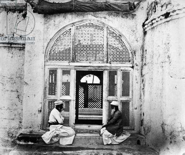 INDIA: TOMB OF AURANGZEB The tomb of Mughal emperor Aurangzeb (1618-1707), in Aurangabad, India. Photograph, mid 20th century.