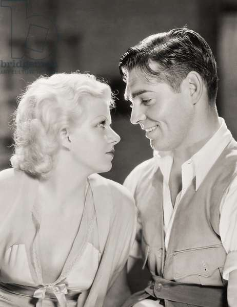 RED DUST, 1932 Jean Harlow and Clark Gable in a scene from the film.