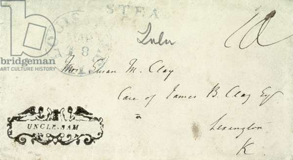 "UNCLE SAM COVER, c.1846 River packet ""Uncle Sam"" marking on cover addressed by Henry Clay."