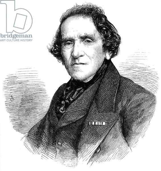 GIACOMO MEYERBEER (1791-1864). German composer. Wood engraving, English, 1862.