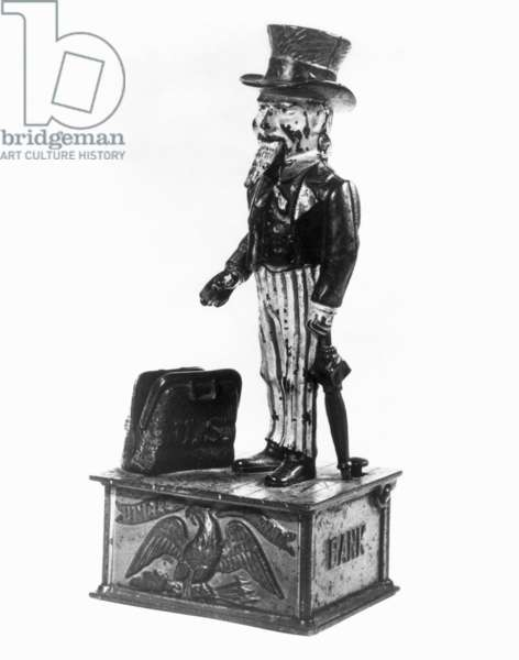 UNCLE SAM COIN BANK American, cast iron, 19th century.