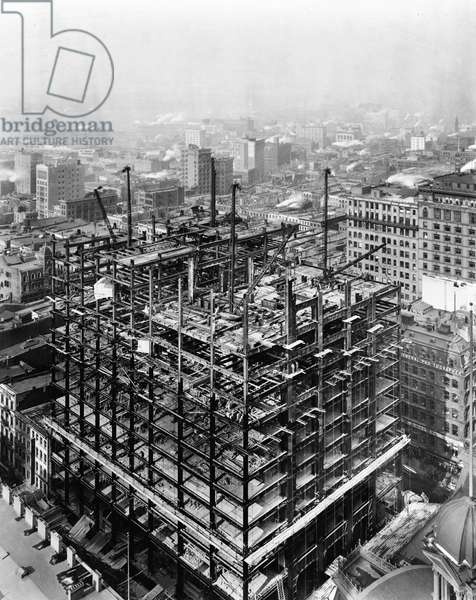 WOOLWORTH BUILDING, 1912 The Woolworth Building under construction, New York City. Photograph by Irving Underhill, 2 February 1912.
