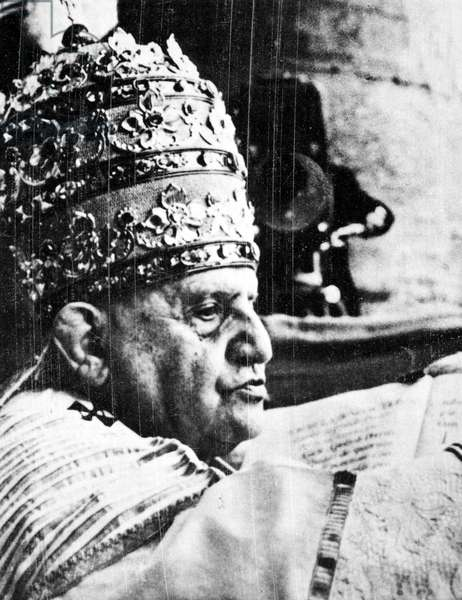 JOHN XXIII (1881-1963) Pope, 1958-1963. Photographed 4 November 1958 after being crowned Pontiff, on the balcony of St Peter's Basilica, Rome.