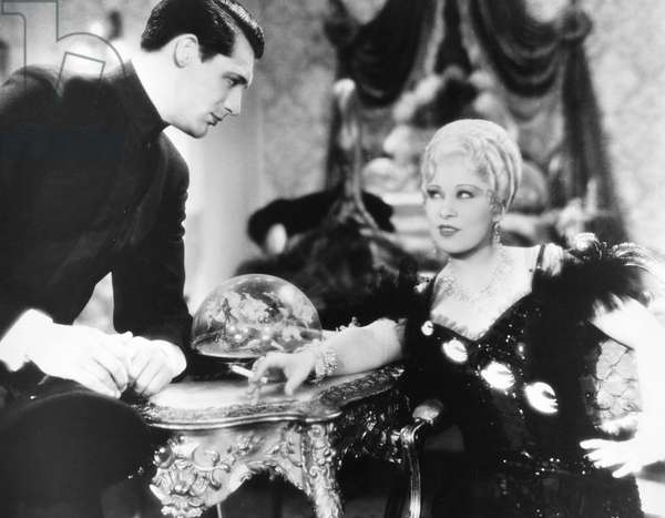 SHE DONE HIM WRONG, 1933 Mae West and Cary Grant in a scene from the film 'She Done Him Wrong,' 1933.