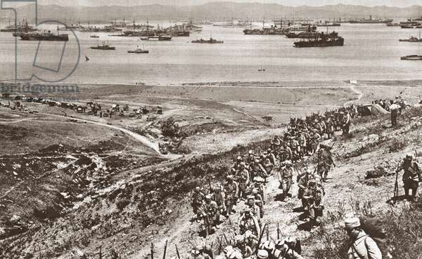 WORLD WAR I: ARMISTICE, 1918 French soldiers landed on the island of Mudros, where the the Armistice of Mudros was signed with Turkey, 31 October 1918. Photograph.