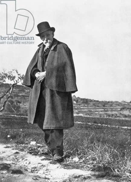 PAUL CEZANNE (1839-1906) French painter. Photographed in Provence by Émile Bernard, c.1905.