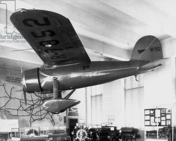 AMELIA EARHART: PLANE 1932 The Lockheed Vega flown by Amelia Earhart on her solo crossing of the Atlantic in 1932.