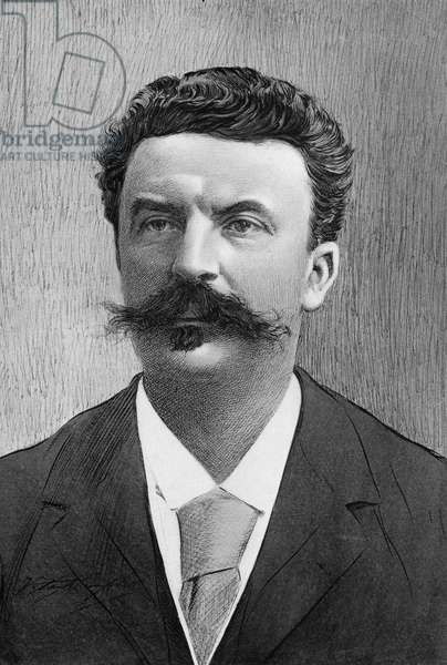 GUY DE MAUPASSANT (1850-1893). French writer. Illustration after a photograph by Nadar.