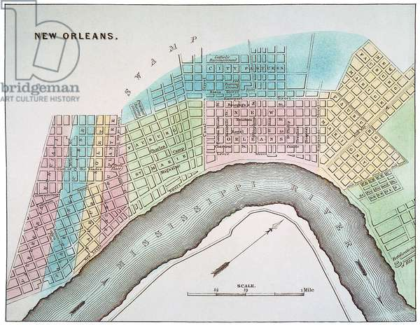 NEW ORLEANS MAP, 1837 Map of New Orleans, Louisiana.