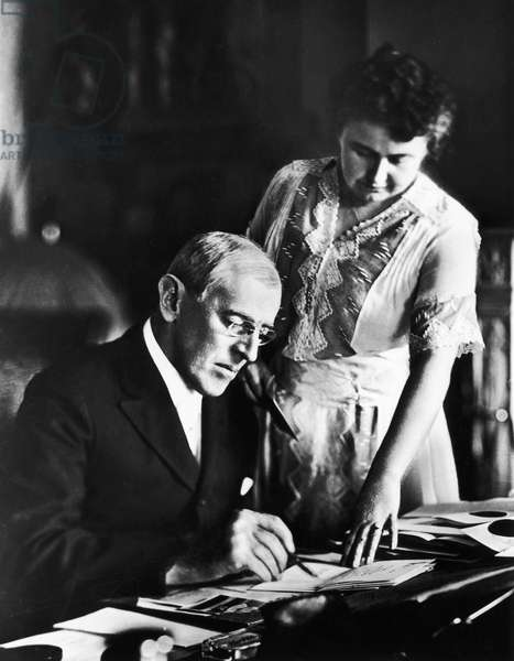 WOODROW WILSON (1856-1924) 28th President of the United States. Photographed with his wife, Edith Bolling Galt Wilson, early 20th century.