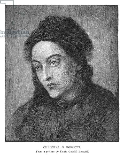 CHRISTINA ROSSETTI (1830-1894). English poet. Wood engraving after Dante Gabriel Rossetti.
