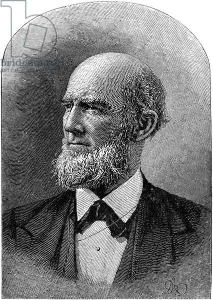 JAMES BUCHANAN EADS (1820-1887). American engineer and inventor. Line engraving, American, 1885.