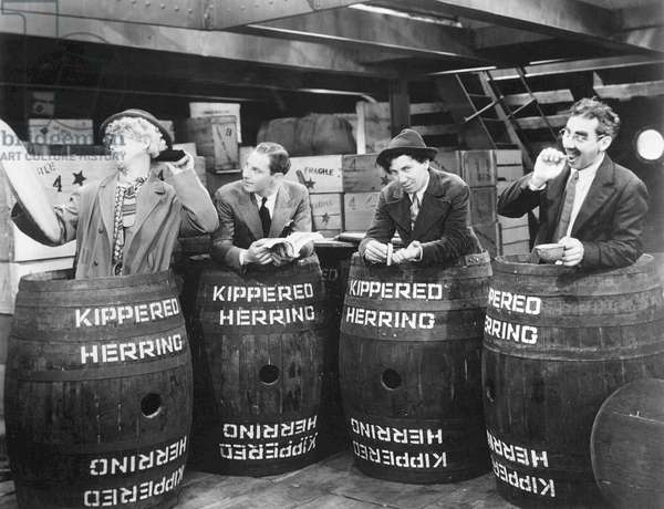 THE MARX BROTHERS, 1931 From left: Harpo, Zeppo, Chico, and Groucho in a scene from Monkey Business.