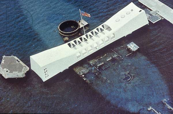 WORLD WAR II: PEARL HARBOR U.S.S. Arizona Memorial, Pearl Harbor, Hawaii.