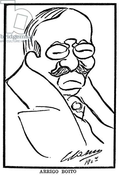 ARRIGO BOITO (1842-1918) Italian composer and librettist. Caricature by Enrico Caruso.