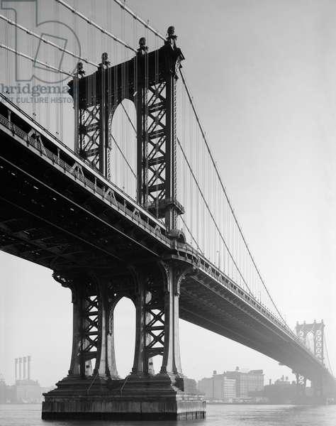 MANHATTAN BRIDGE, 1979 A view of the Manhattan Bridge, looking towards Brooklyn. Photograph, 1979.