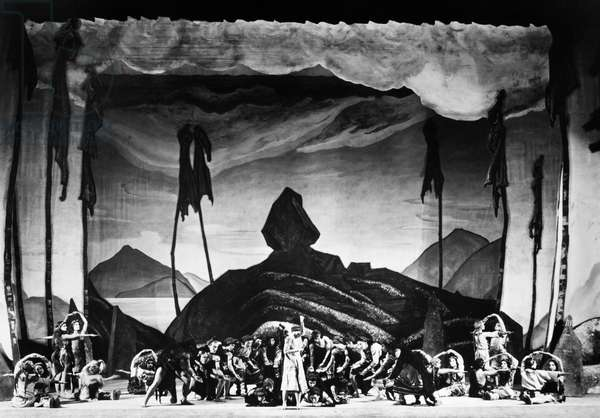 BALLET: RITE OF SPRING Scene from the first American production of Igor Stravinsky's ballet 'The Rite of Spring,' 1930, featuring dancer and choreographer Martha Graham (at center stage).
