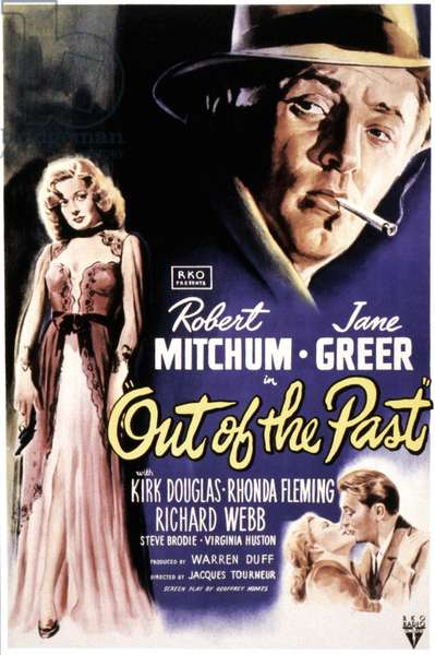 OUT OF THE PAST, 1947 Film poster.