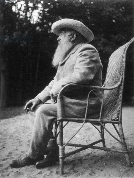 Claude Monet (b/w photo)