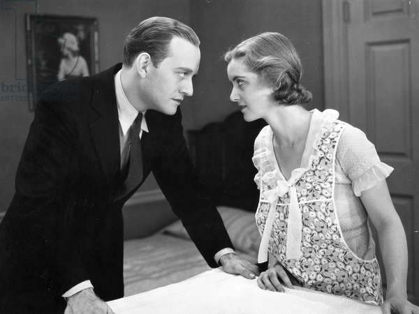 BETTE DAVIS (1908-1989) American actress. Bette Davis with Conrad Nagel in a scene from 'Bad Sister,' 1931.