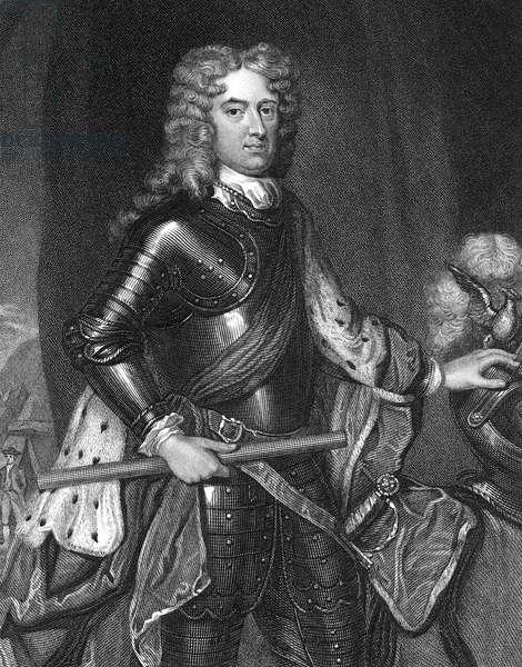JOHN CHURCHILL (1650-1722) 1st Duke of Marlborough. English military commander. Steel engraving, English, 1836, after Sir Godfrey Kneller.