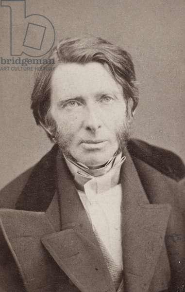 JOHN RUSKIN (1819-1900) English critic. Original carte-de-visite photograph, c.1860.