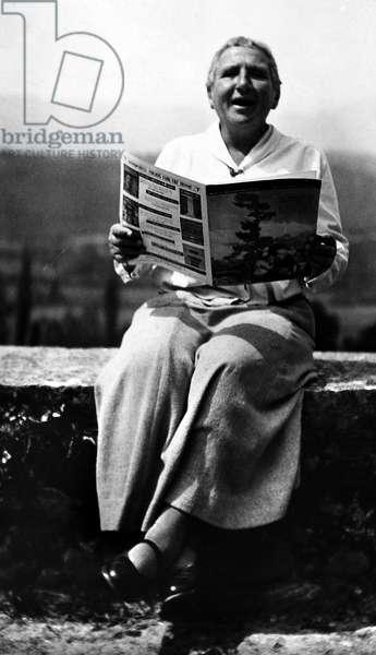 GERTRUDE STEIN (1874-1946). American writer. Undated photograph.