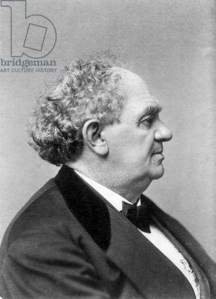 PHINEAS TAYLOR BARNUM (1810-1891). American showman. Original cabinet photograph.