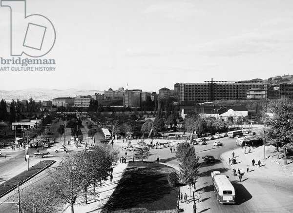 TURKEY: ANKARA, 1958 Atatürk Boulevard in Ankara, the capital of Turkey. Photographed in 1958.
