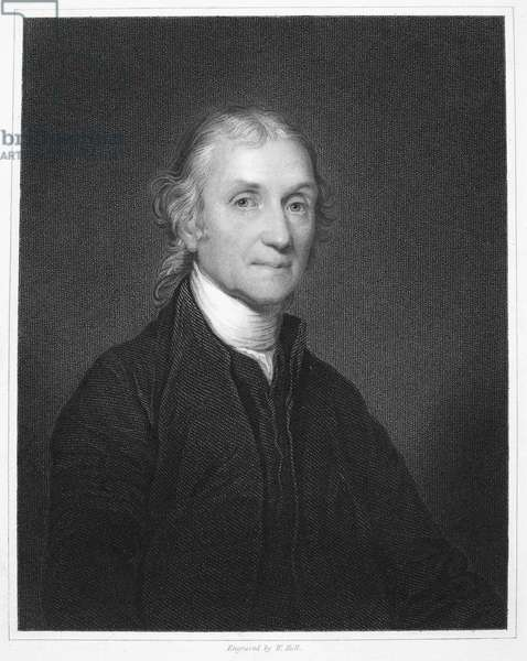 JOSEPH PRIESTLEY (1733-1804) English cleric and chemist. Steel engraving, English, 1835.