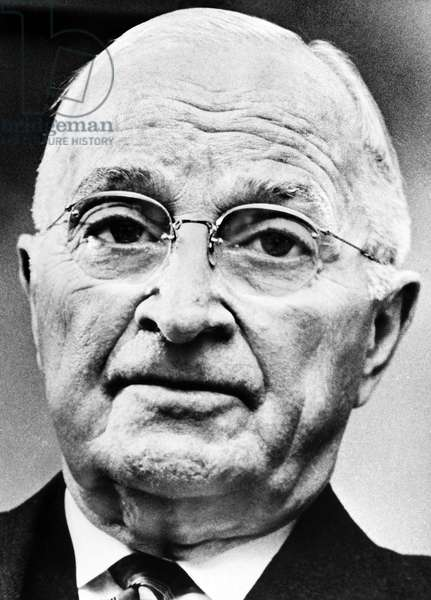 HARRY S. TRUMAN (1884-1972). 33rd President of the United States. Photographed 1964.