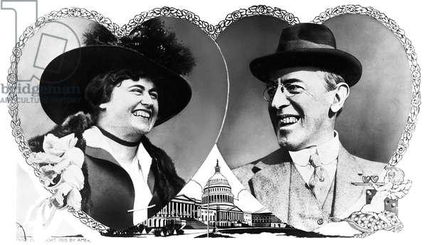 WOODROW AND EDITH WILSON President Woodrow Wilson and his second wife, Edith Wilson, 1915.