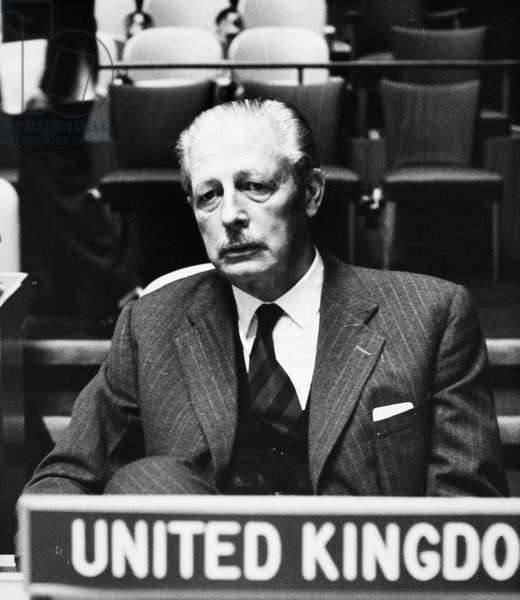 HAROLD MACMILLAN (1894-1986). English politician. Photographed, 5 October 1960 at the General Assembly of the United Nations in New York City.