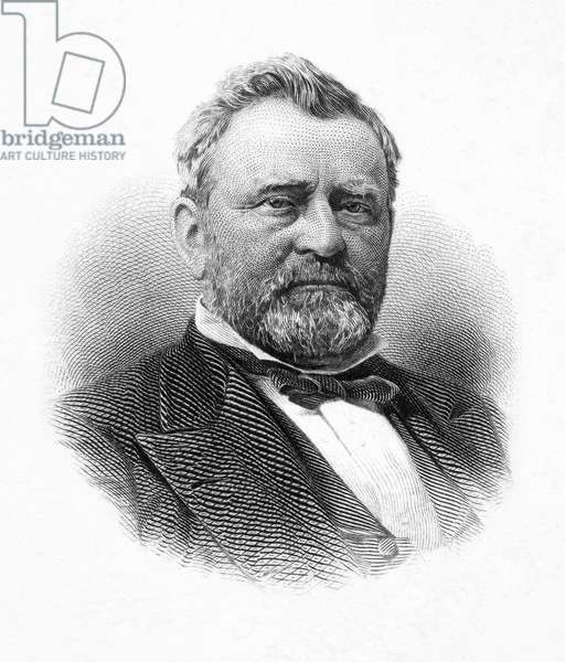 ULYSSES S. GRANT (1822-1885) 18th President of the United States. Steel engraving.