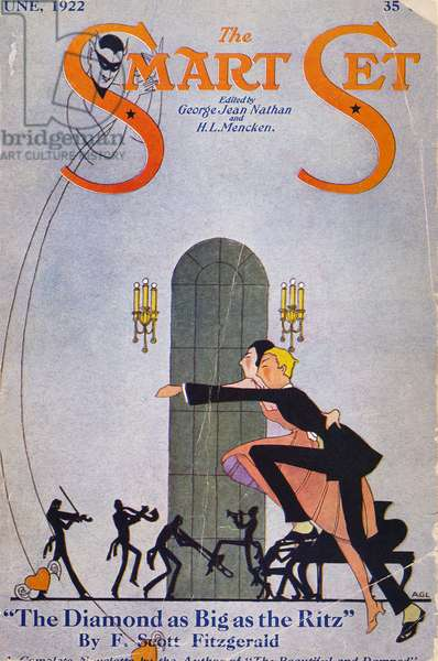 SMART SET MAGAZINE COVER A 1922 cover of George Jean Nathan and H.L. Mencken's 'The Smart Set' featuring a story by F. Scott Fitzgerald.