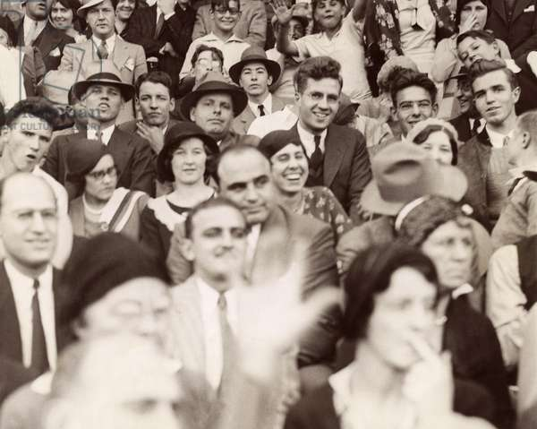 AL CAPONE (1899-1947) American gangster. Photographed at the football game between Northwestern University and Nebraska in Evanston, Illinois, October 1931.