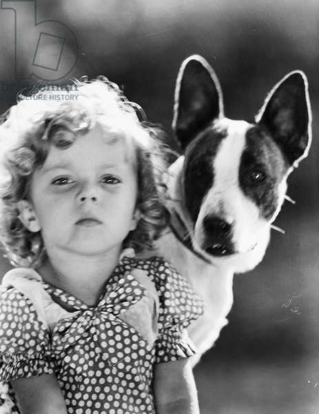 SHIRLEY TEMPLE (1928-2014) American child film actress. Photograph, c.1935.