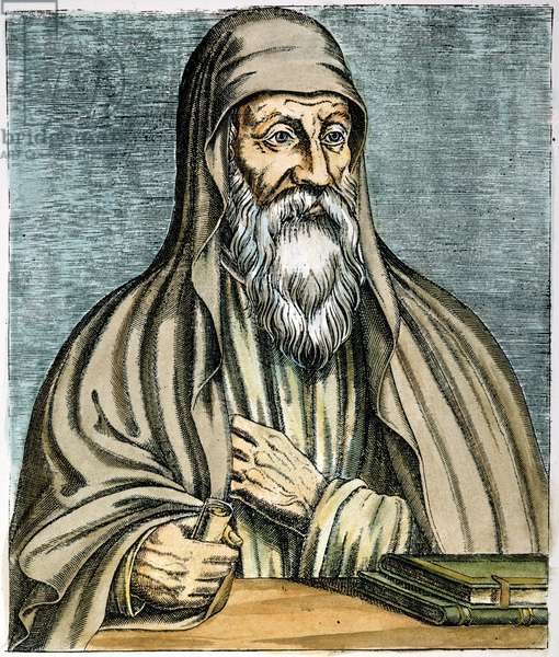ORIGEN (185?-254?) Christian theologian. French line engraving, 1584.
